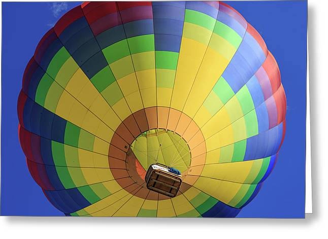 Quechee Vermont Hot Air Balloon Festival 4 Greeting Card by Edward Fielding