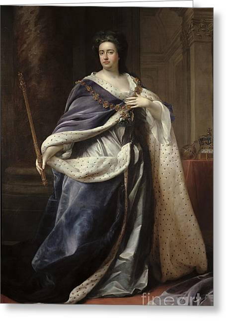 Head Of State Greeting Cards - Queen Anne Greeting Card by Edmund Lilly