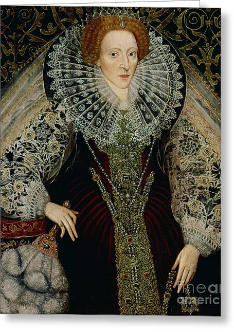 Monarchy Greeting Cards - Queen Elizabeth I Greeting Card by John the Younger Bettes