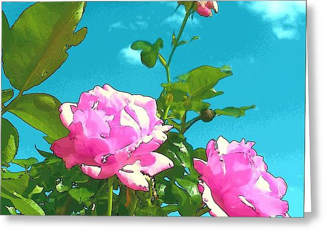 Androidography Greeting Cards - Queen Elizabeth Rose Remix Greeting Card by Amy Jo Garner