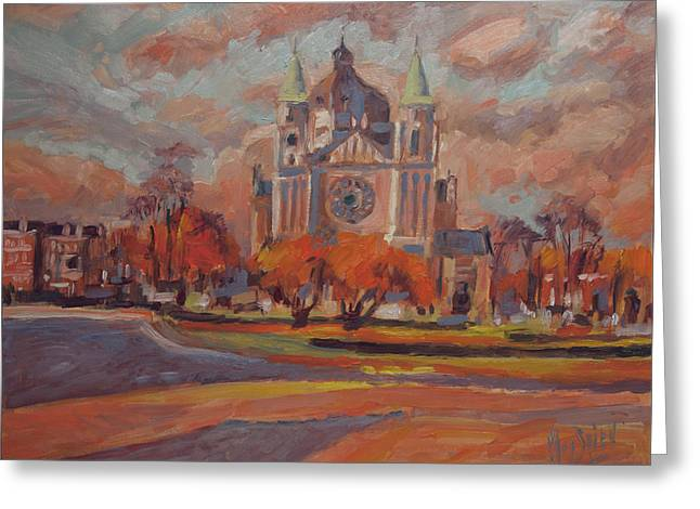 Queen Emma Square In Autumn Colours Greeting Card by Nop Briex