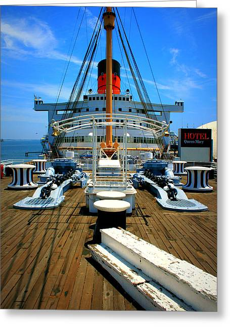 Best Ocean Photography Greeting Cards - Queen Mary Greeting Card by Perry Webster