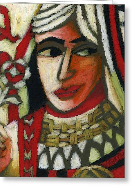 Playing Cards Pastels Greeting Cards - Queen of Hearts Greeting Card by Erik Pearson