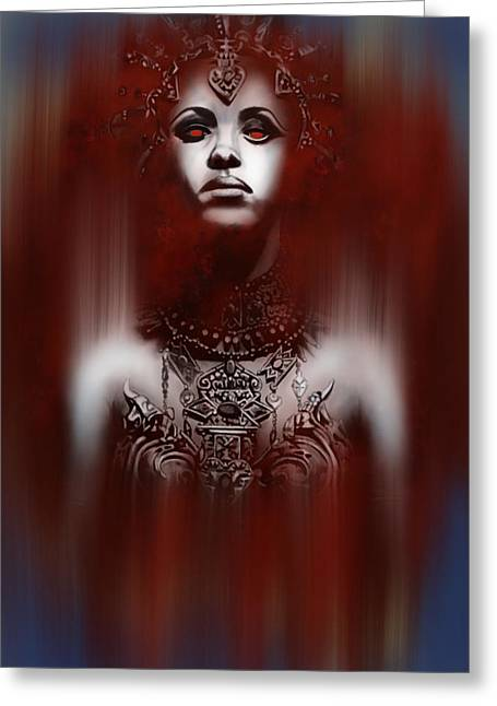 Anne Rice Greeting Cards - Queen of the Damned Greeting Card by Michael Gibbs