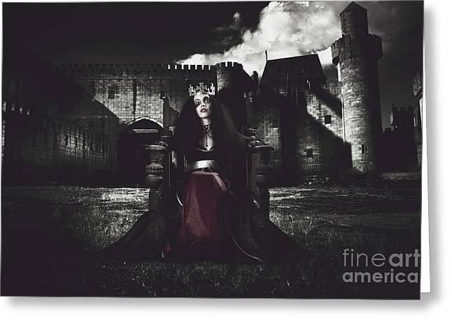 Grey Robe Greeting Cards - Queen of the dark monarch Greeting Card by Ryan Jorgensen