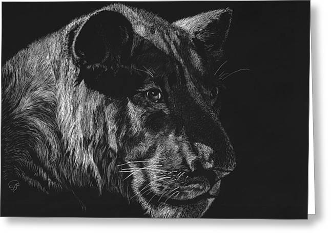 Lioness Greeting Cards - Queen of the Jungle Greeting Card by Sydne Spencer