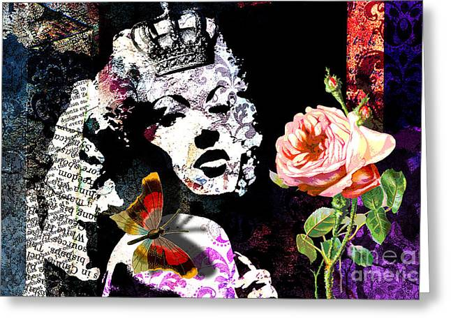 Eyelash Greeting Cards - Queen Greeting Card by Ramneek Narang