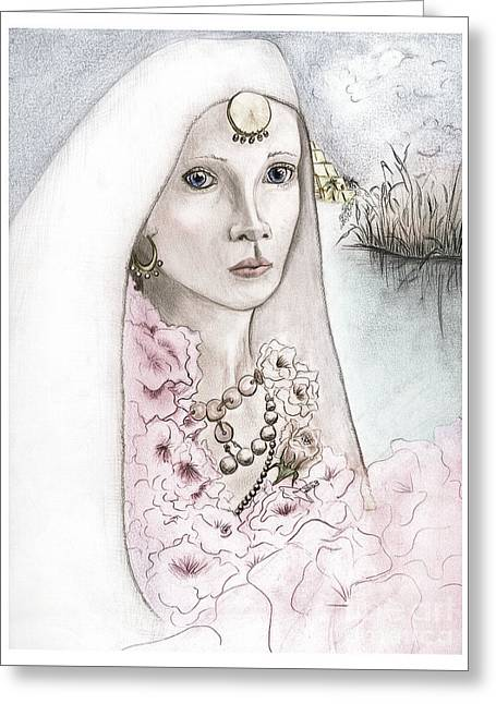 Queen Semiramis, Wedding Picture Greeting Card by Janice Moore