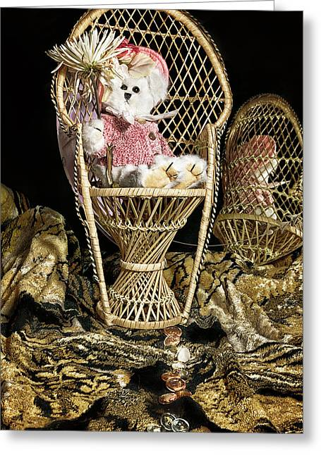 Baby Room Greeting Cards - Queen Teddy Greeting Card by Camille Lopez