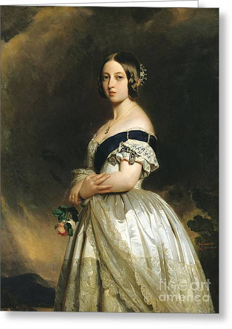 Best Sellers -  - British Portraits Greeting Cards - Queen Victoria Greeting Card by Franz Xaver Winterhalter