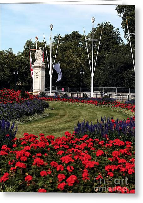 Victoria Johns Greeting Cards - Queen Victoria Memorial Gardens Greeting Card by John Rizzuto