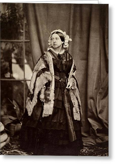 Queen Victoria Photographed Greeting Card by John Jabez