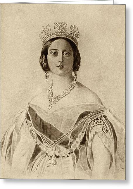 British Royalty Greeting Cards - Queen Victoria,1819-1901. Princess Greeting Card by Vintage Design Pics