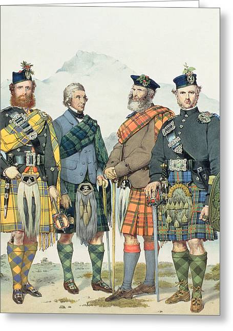 Queen Victoria's Highlanders Greeting Card by Kenneth Macleay