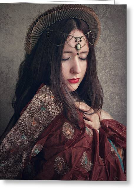Dreamy Photographs Greeting Cards - Queen Greeting Card by Wojciech Zwolinski