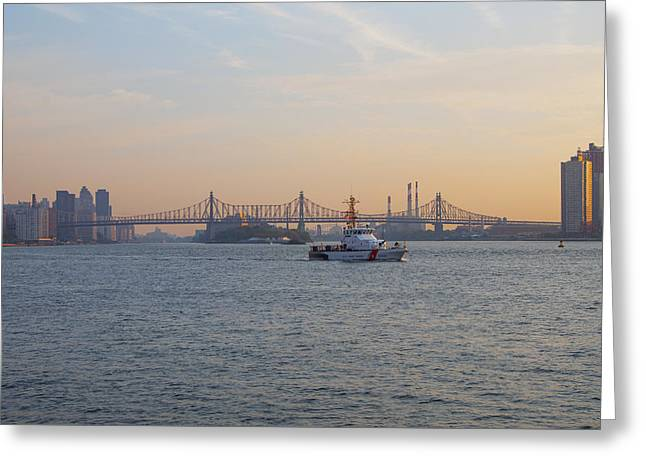 Queensboro Bridge - New York Greeting Card by Bill Cannon