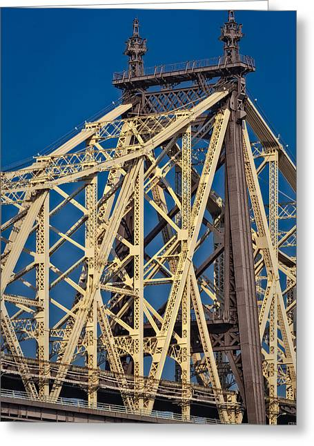Old Fashioned Greeting Cards - Queensboro Ed Koch Bridge Greeting Card by Susan Candelario