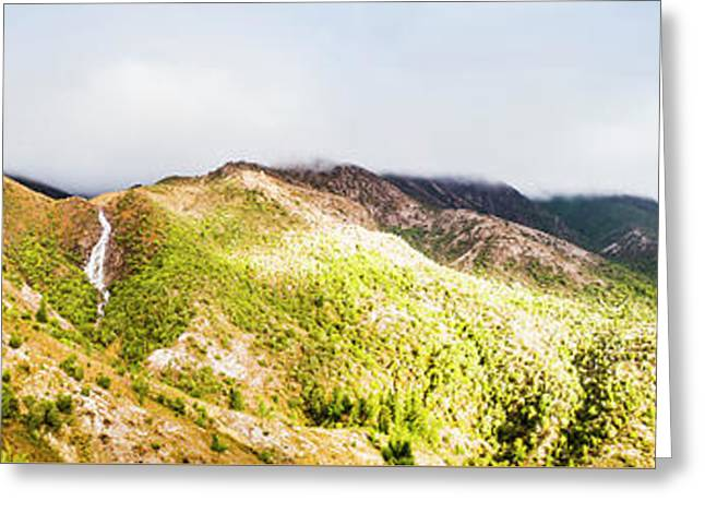 Queenstown Tasmania Wide Mountain Landscape Greeting Card by Jorgo Photography - Wall Art Gallery