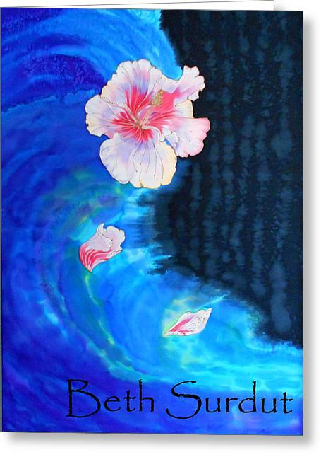 Botanical Tapestries - Textiles Greeting Cards - Quench My Thirst Greeting Card by Beth Surdut