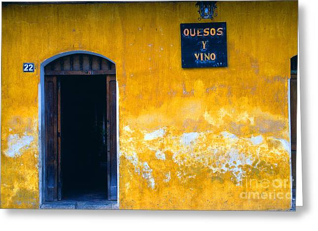 Wine Scene Greeting Cards - Quesos y Vino La Antigua Greeting Card by Thomas R Fletcher