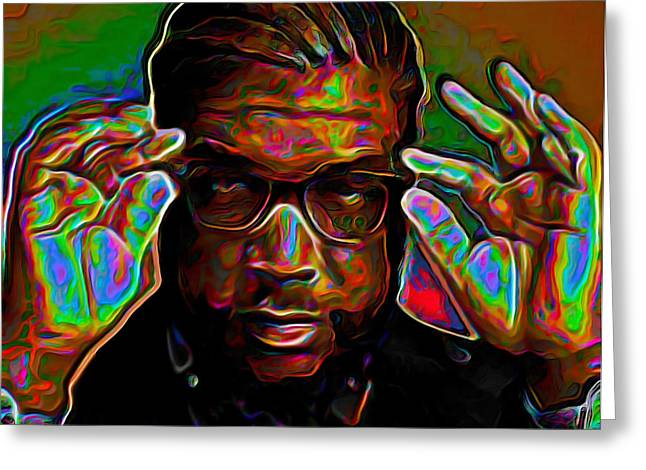 Fineartamerica Greeting Cards - Questlove Greeting Card by  Fli Art