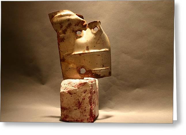 Junk Sculptures Greeting Cards - Quicksand Greeting Card by Richard Heffron