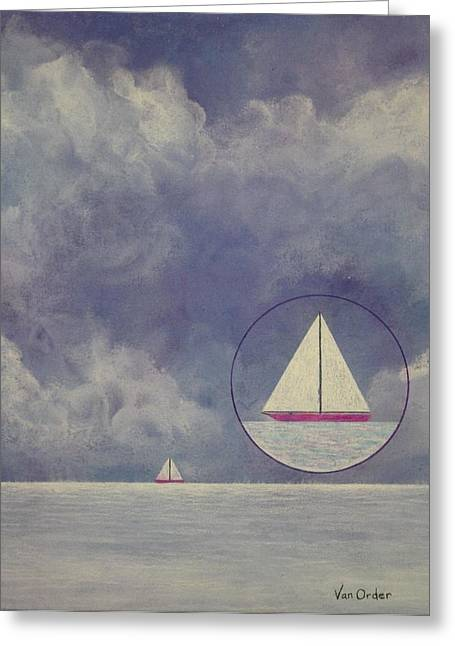 Sailing Pastels Greeting Cards - Quiet Before The Storm Greeting Card by Richard Van Order