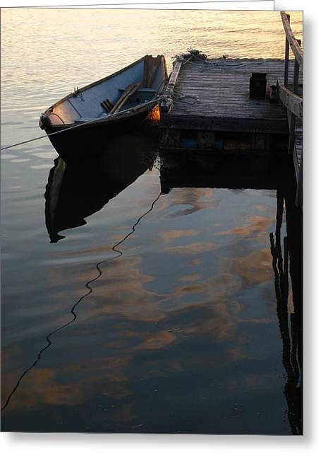 Coastal Maine Greeting Cards - Quiet Greeting Card by Bill Tomsa