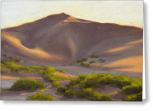 Desert Paintings Greeting Cards - Quiet Dune Greeting Card by Ben Hubbard