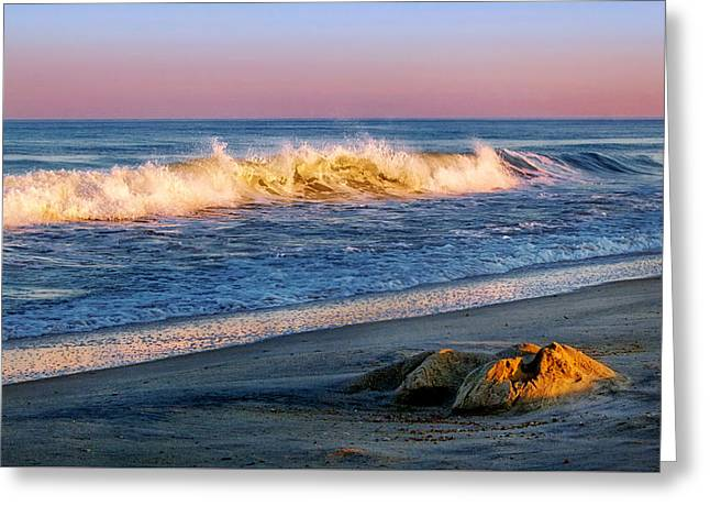 Foam Sculpture Greeting Cards - Quiet Evening on the Beach Greeting Card by Carolyn Derstine