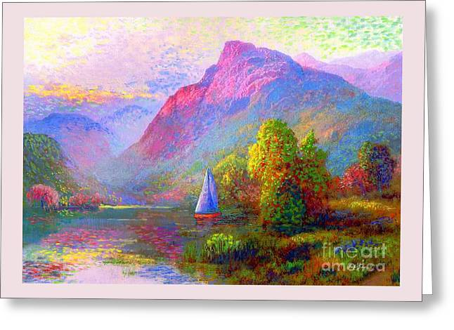 Sailing Into A Quiet Haven Greeting Card by Jane Small