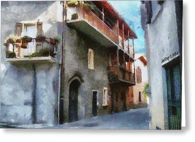 Quiet In Almenno San Salvatore Greeting Card by Jeff Kolker