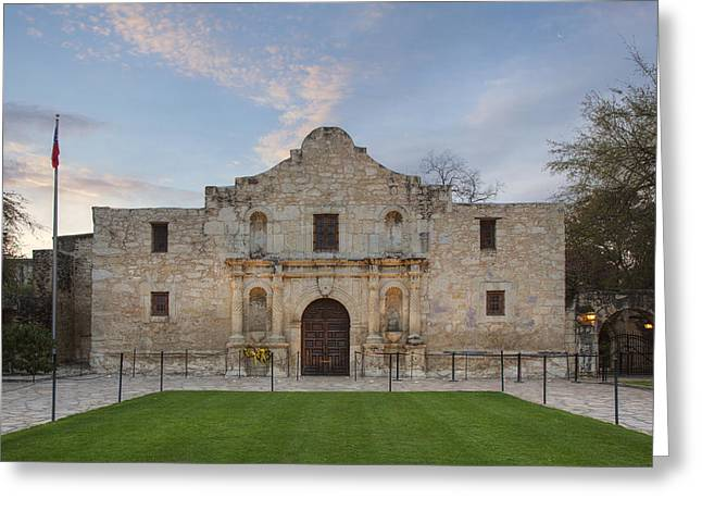 Riverwalk Greeting Cards - Quiet Morning at the Alamo 4 Greeting Card by Rob Greebon