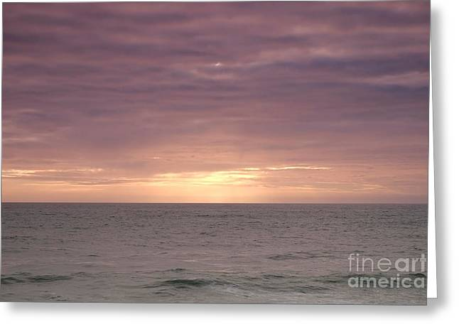 Quiet Ocean Greeting Card by Angelo DeVal