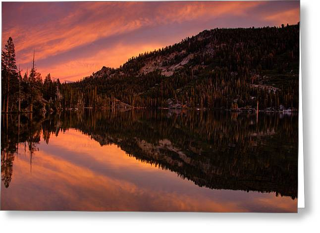 Evening Lights Greeting Cards - Quiet Reflection - Echo Lake Greeting Card by Dan Holmes