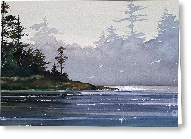 Artist James Williamson Watercolor Greeting Cards - Quiet Shore Greeting Card by James Williamson