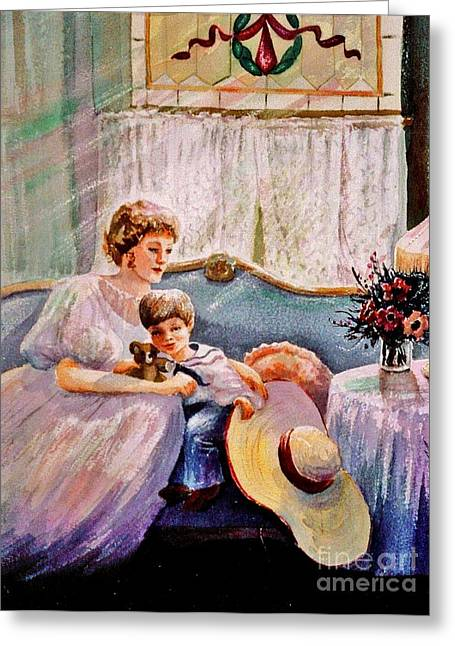 Glass Vase Greeting Cards - Quiet Time Greeting Card by Marilyn Smith