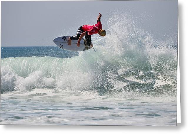 Surfer Magazine Photographs Greeting Cards - Quiksilver Pro France II Greeting Card by Thierry Bouriat