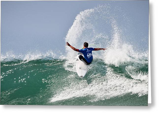 Surfer Magazine Greeting Cards - Quiksilver Pro France III Greeting Card by Thierry Bouriat