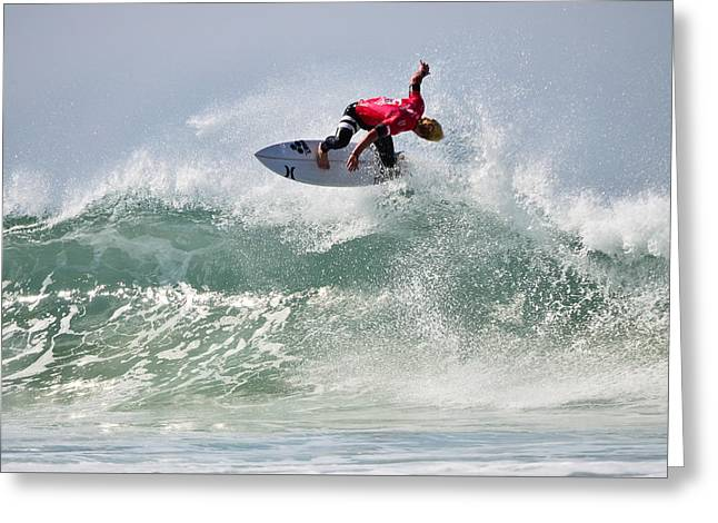 Surfer Magazine Photographs Greeting Cards - Quiksilver Pro France IV Greeting Card by Thierry Bouriat