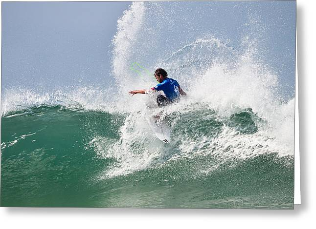 Surfer Magazine Photographs Greeting Cards - Quiksilver Pro France V Greeting Card by Thierry Bouriat