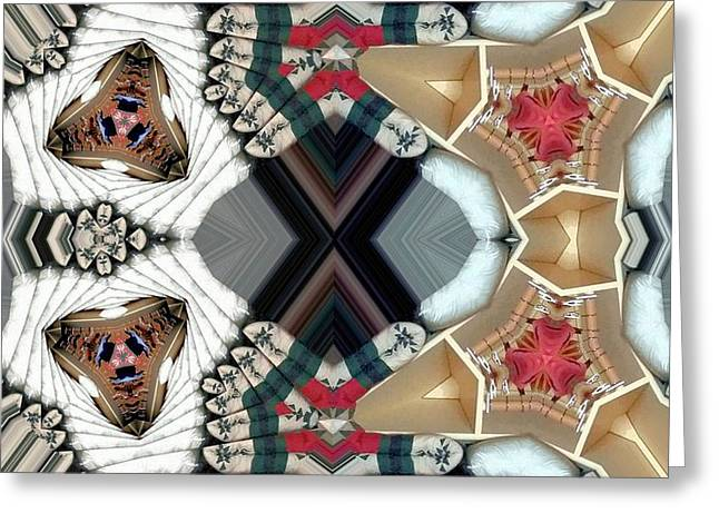 Patterned Greeting Cards - Quiltling Greeting Card by Ron Bissett