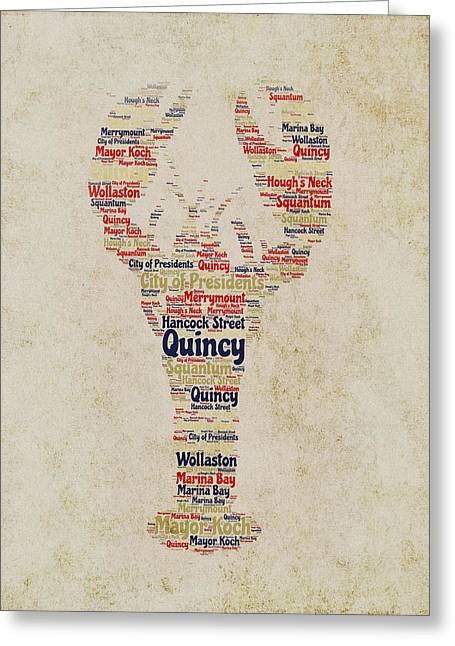 Quincy Lobster Greeting Card by Brandi Fitzgerald