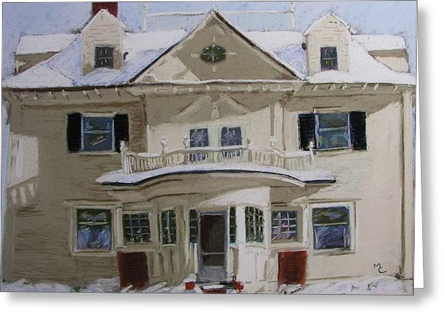Quincy Street Greeting Card by Mary Capriole