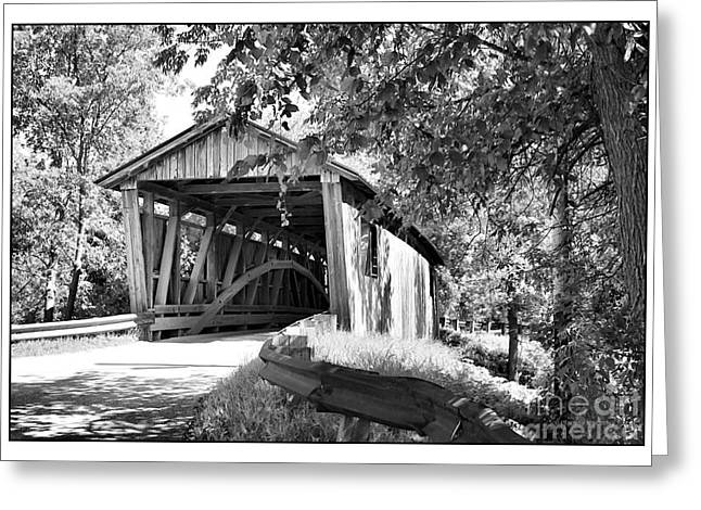 Charlotte Framed Photography Greeting Cards - Quinlan Bridge Greeting Card by Deborah Benoit
