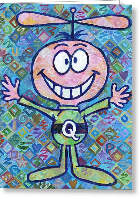 Quaker Paintings Greeting Cards - Quisp 2 Greeting Card by Randal Huiskens