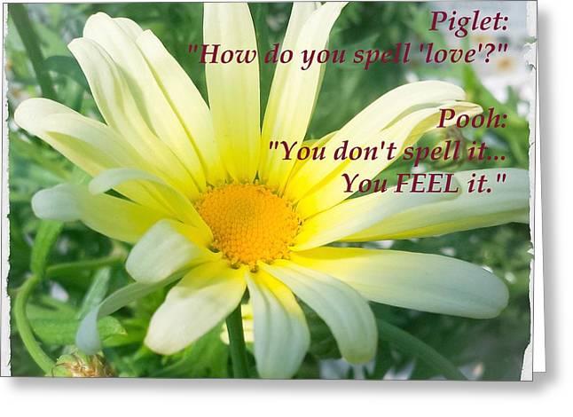 Piglets Greeting Cards - Quotes 6 Greeting Card by Jennifer Kohler
