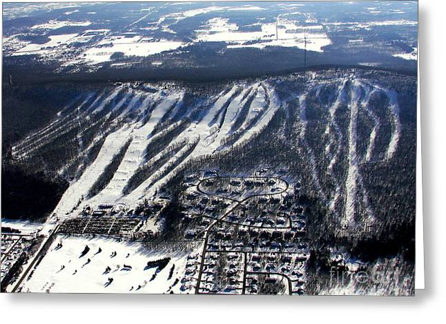 Skiing Fine Art Greeting Cards - R-021 Rib Mountain Wisconsin Winter Greeting Card by Bill Lang