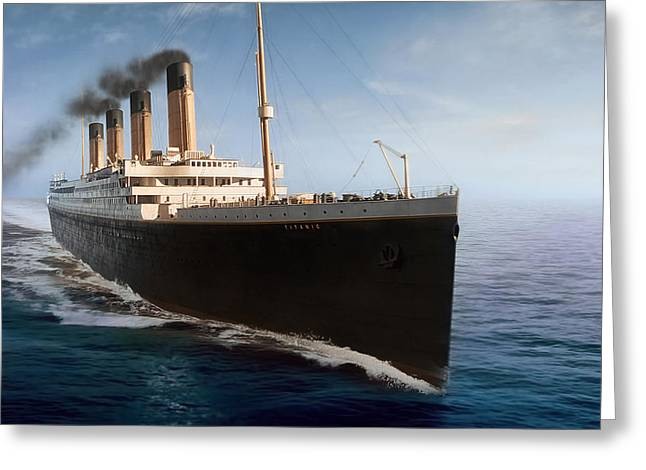 Stack Greeting Cards - R M S Titanic Greeting Card by Peter Chilelli