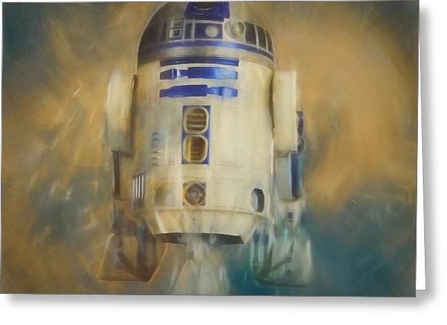 R2-d2 Greeting Card by Dan Sproul